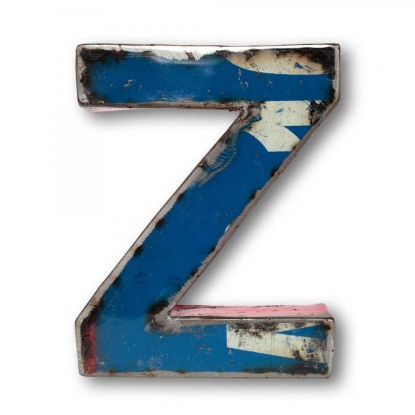 Metallbuchstabe 'Z', multicolor, T 15 cm, B 20 cm, H 4 cm
