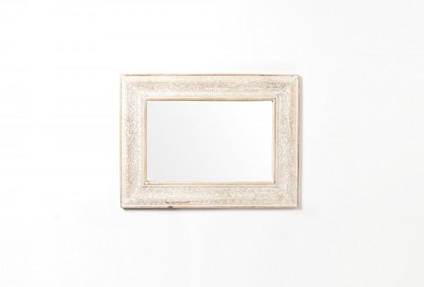 Spiegel 'Sajili', natur, weiß, T 2 cm, B 45 cm, H 60 cm