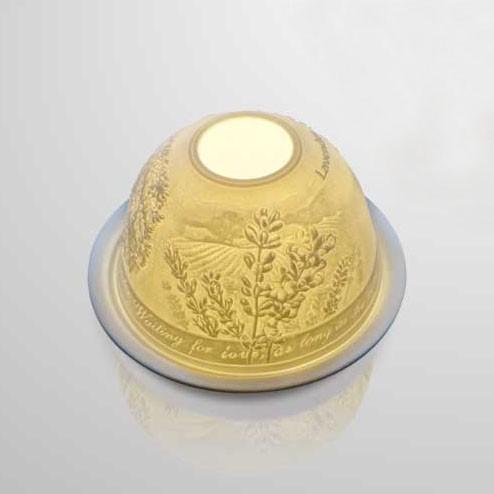 """Windlicht """"Arbuste"""" aus Porzellan, Ø 12 cm, H 7,5 cm"""
