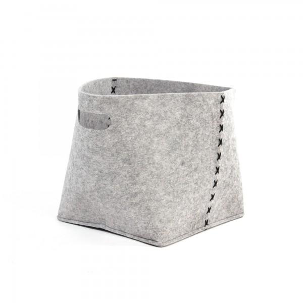 """Korb """"Brill M"""", aus Filz, grau, L 25 cm, B 33 cm, H 28 cm"""
