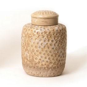 "Deckelgefäß ""Vase Trous klein"", Ø 18 cm, H 25 cm"