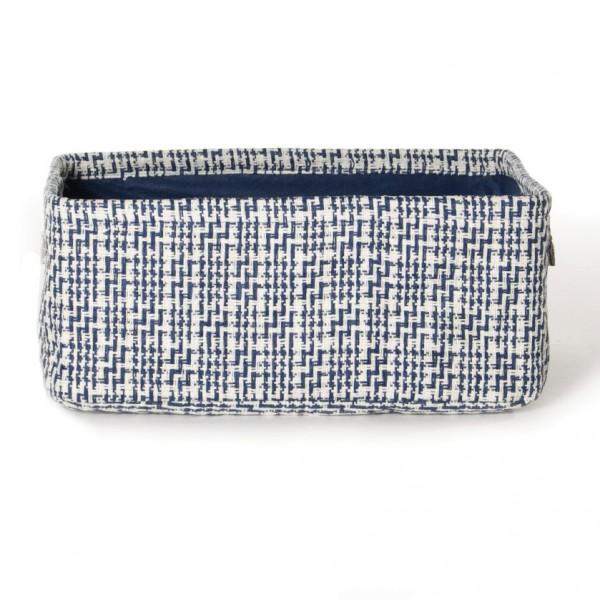 """Aufbewahrungsbox """"Namur"""", weiß/blau, L 26 cm, B 36 cm, H 16 cm"""