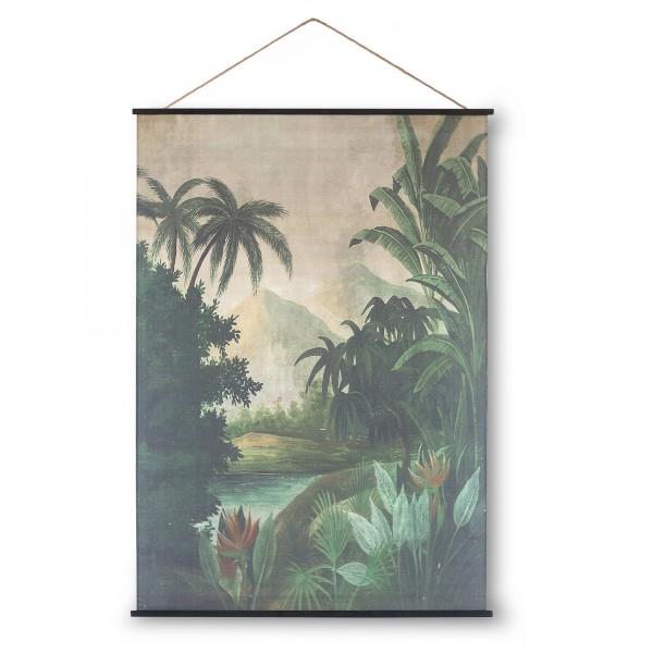 Rollbild auf Leinwand 'Jungle Nature', multicolor, T 2 cm, B 154 cm, H 215 cm