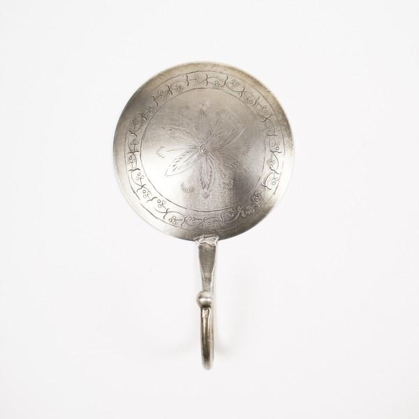 """Wandhaken rund """"Modell E"""", silber, Ø 10 cm"""