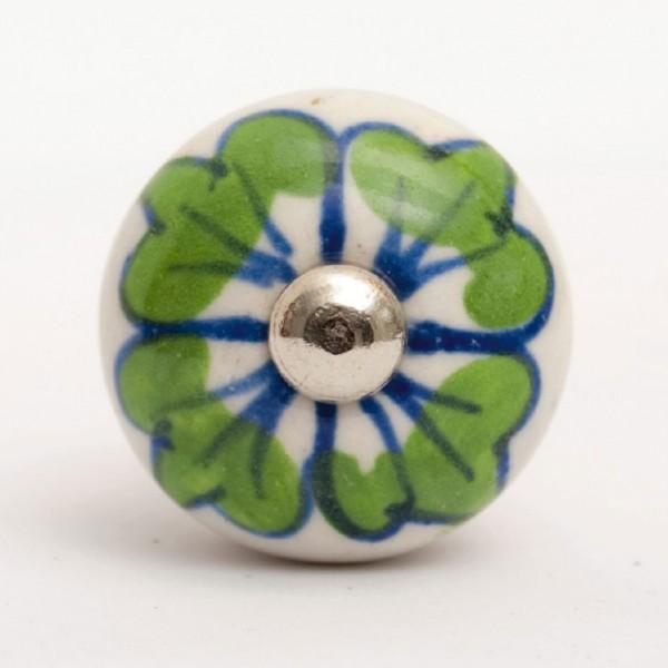 Türknauf rund, grün/blau, Ø 3,0 cm