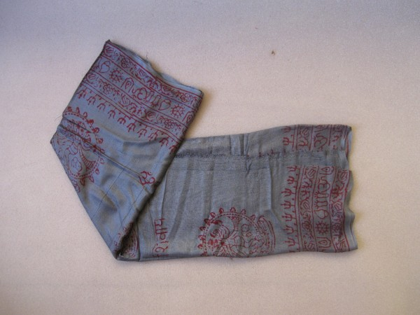 Baumwollschal groß, grau, T 190 cm, B 85 cm