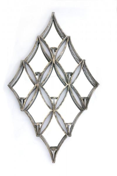 """Spiegel """"Tryan"""", mit Teelichthaltern, antik-gold, B 74 cm, H 124 cm"""