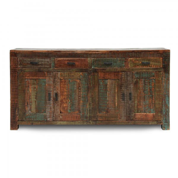 Sideboard 'Hove', 4 Schubladen, 4 Türen, braun, multicolor, T 45 cm, B 175 cm, H 86 cm