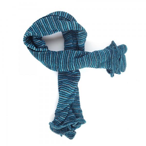 Magic Infinity Scarf, petrol blau, T 80 cm, B 60 cm