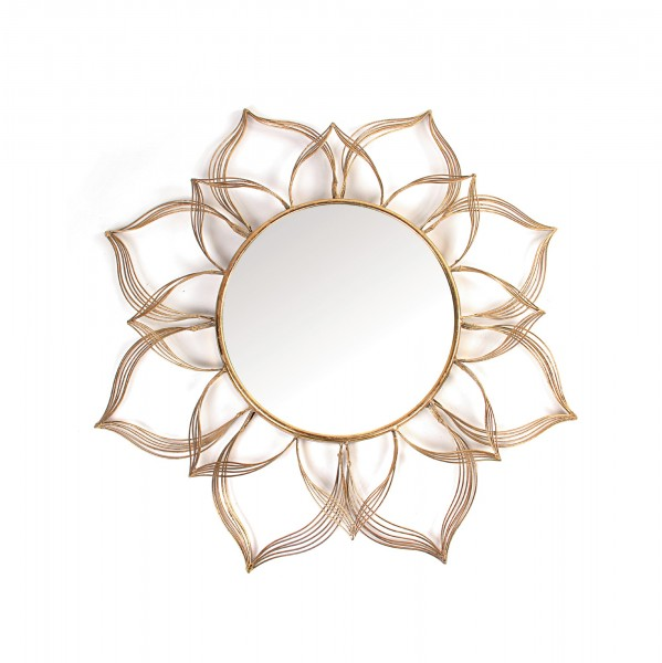 Spiegel 'Samarkand', messing-antik, T 3,5 cm, B 90 cm, H 90 cm
