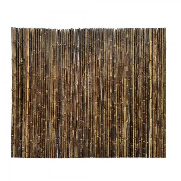 Bambuswände Sichtschutz, dunkelbraun, T ca. 3 cm, B 240 cm, H 180 cm