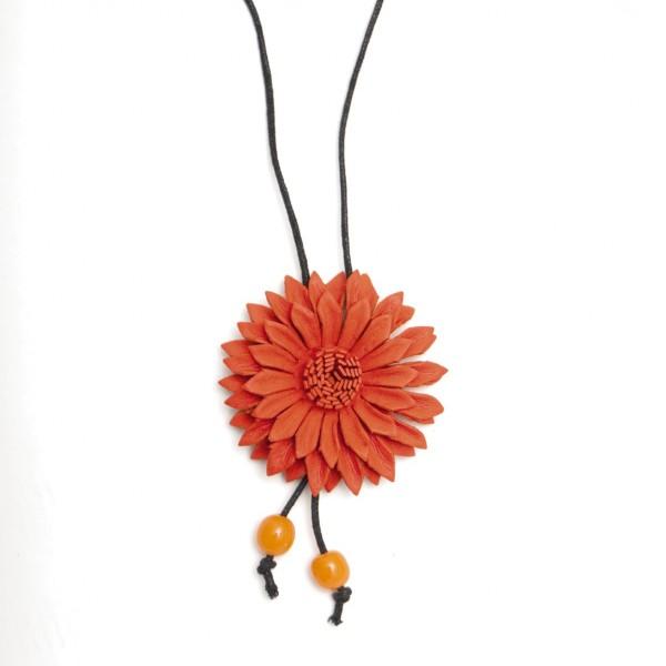"""Halskette """"Blume"""", orange"""