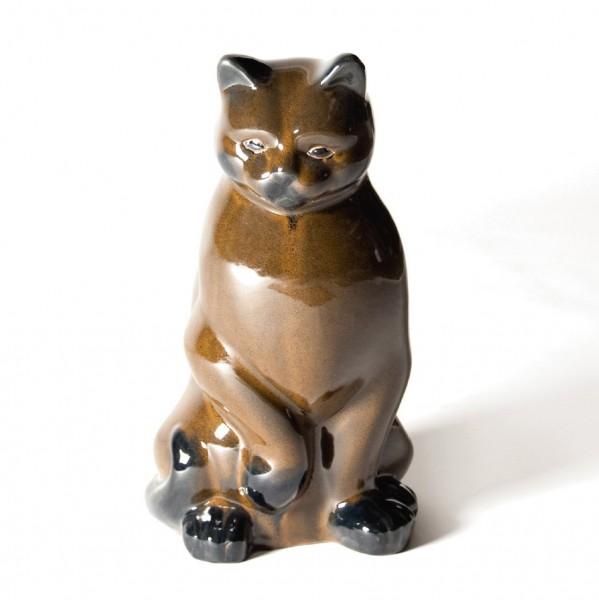 "Figur ""Katze"" aus Keramik, braun, L 24,5 cm, B 23 cm, H 40 cm"