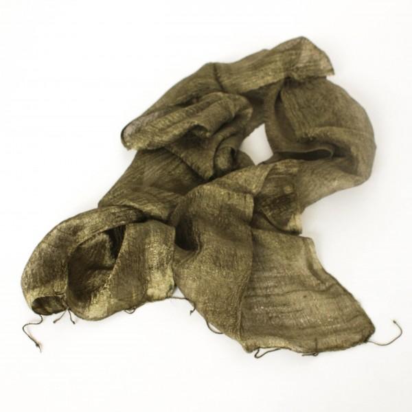 Seidenschal, altgrün, L 170 cm, B 35 cm