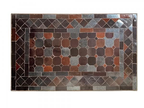rechteckiger Tisch / Beistellstisch L, braun, T 30 cm, B 50 cm, H 45 cm