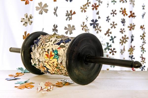 Party-Papiergirlande 'Blumen', multicolor, T 2500 cm