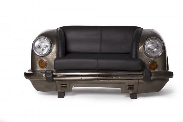 Sofa 'Ambassador Classic', Front, 2-Sitzer, silber, L 70 cm, B 158 cm, H 83 cm