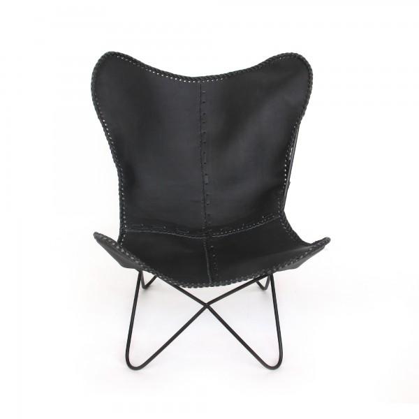 Lounger 'John', schwarz,schwarz, T 76 cm, B 70 cm, H 90 cm