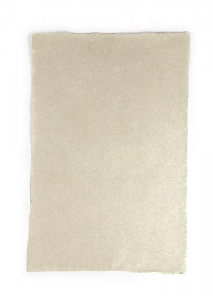 """Geschenkpapier """"Spirale grün"""", handgeschöpft, L 51 cm, B 76 cm"""