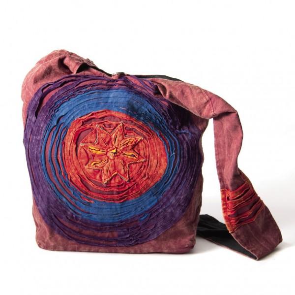 "Cross-Over-Bag ""Udaunu"", bordeaux/multicolor, B 35 cm, H 35 cm"