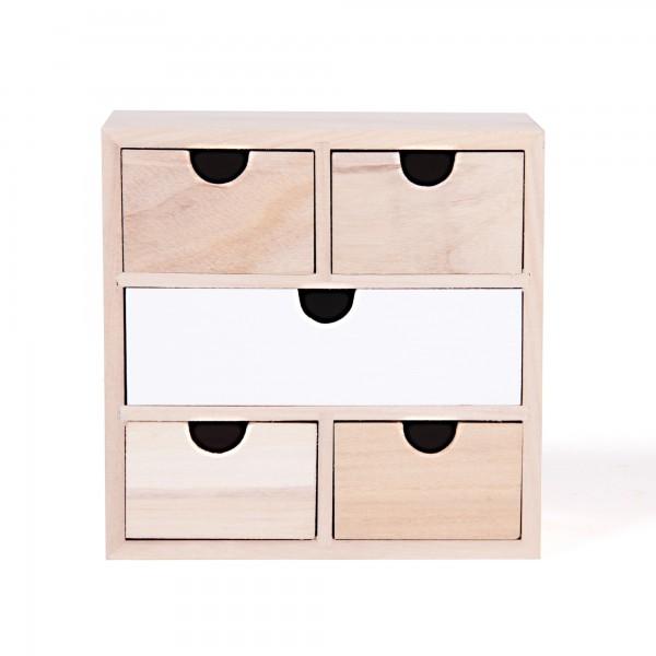 "Schubladenbox ""Valetta"", L 9 cm, B 18 cm, H 18 cm"