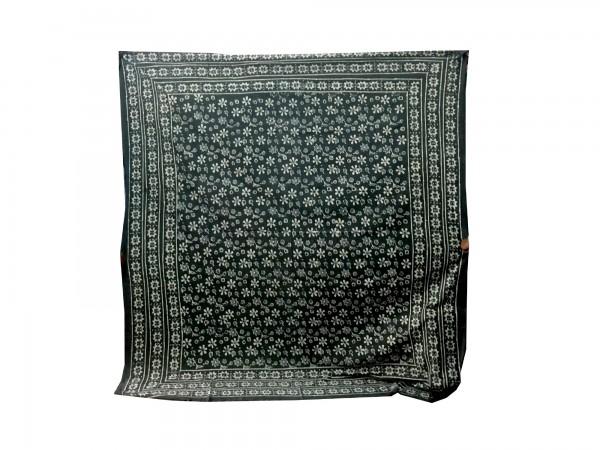 """Tagesdecke """"Flower"""", aus 100% Baumwolle, schwarz/weiß, L 210 cm, B 245 cm"""