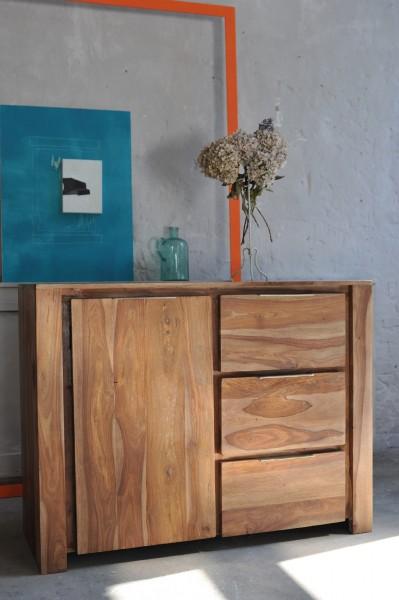 Sideboard 'Bent', 1 Tür 3 Schubladen, L 45 cm B 120 cm, H 90 cm