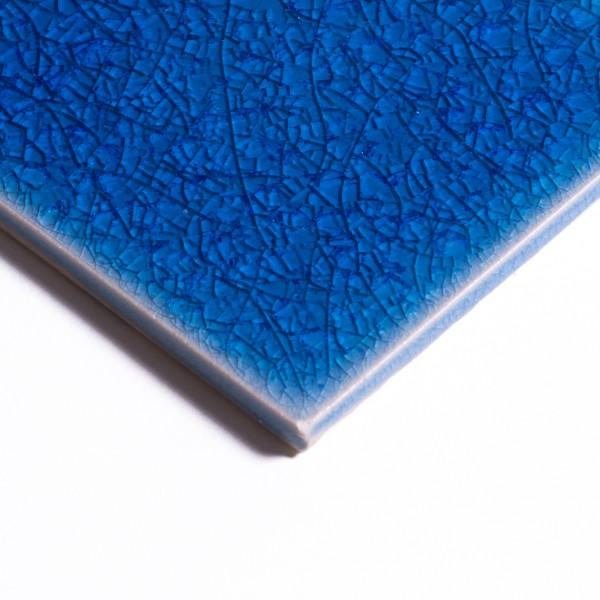 Fliese 'Craquele' nachtblau, L 10 cm, B 10 cm