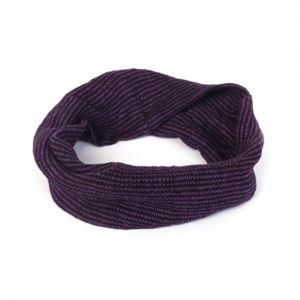 Stirnband, lila, schwarz, Ø 20 cm, H 20 cm