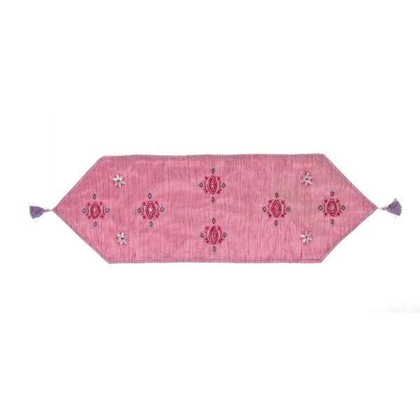 """Tischläufer """"Purple"""", pink, L 135 cm, B 40 cm"""