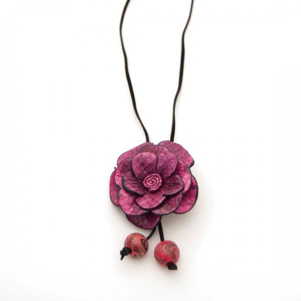 "Halskette ""Pink Flower"", pink"