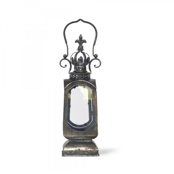 Laterne 'Basildon', rostbraun, T 15,5 cm, B 15,5 cm, H 52 cm