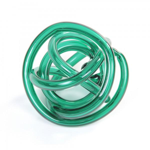 Glasknoten, grün, Ø 16 cm