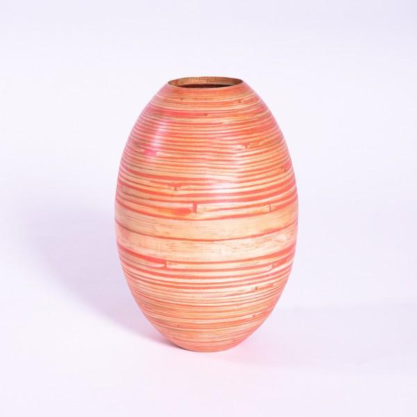 Bambusvase, orange/natur, Ø 20 cm, H 30 cm