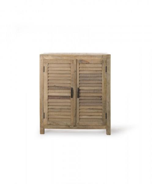 Schrank, mit 2 Türen, braun, T 40 cm, B 85 cm, H 107 cm