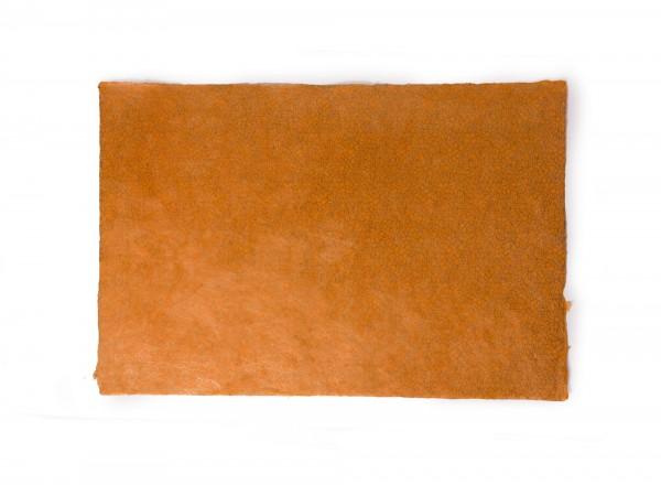 """Geschenkpapier """"Blumen orange"""", handgeschöpft, L 51 cm, B 76 cm"""