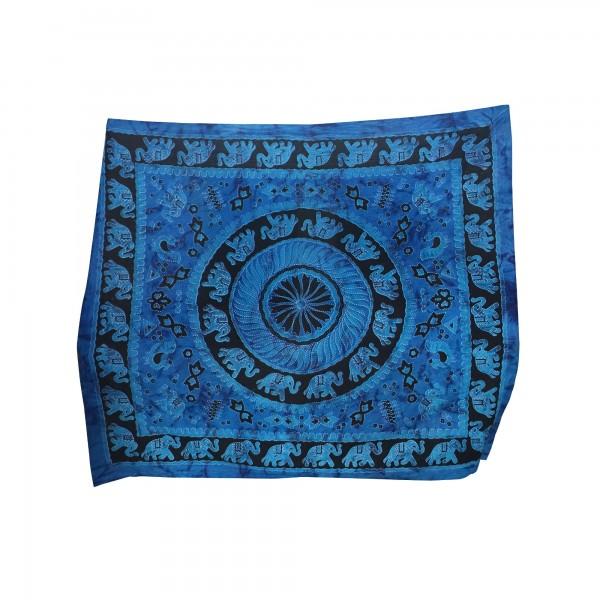 """Tagesdecke """"Elephant Circles"""", aus 100% Baumwolle, blau/schwarz, L 210 cm, B 245 cm"""
