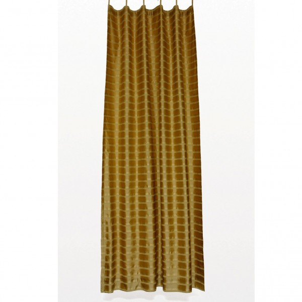 Seidenvorhang mit Band, gold, L 240 cm, B 130 cm