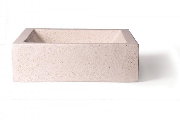 Waschbecken 'Terrazzo', weiß, T 40 cm, B 40 cm, H 12 cm
