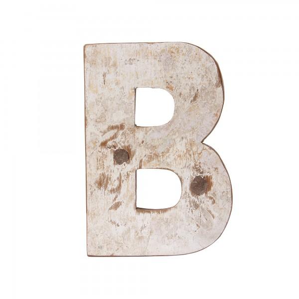 Holzbuchstabe 'B', mehrfarbig, T 2,5 cm, B 13 cm, H 19 cm