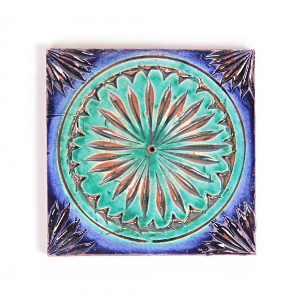 """Fliese """"Soleil"""", blau/grün, L 10 cm, B 10 cm, H 1 cm"""