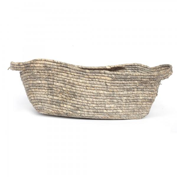 Korb 'Fiori' L, natur, T 47 cm, B 29 cm, H 15 cm