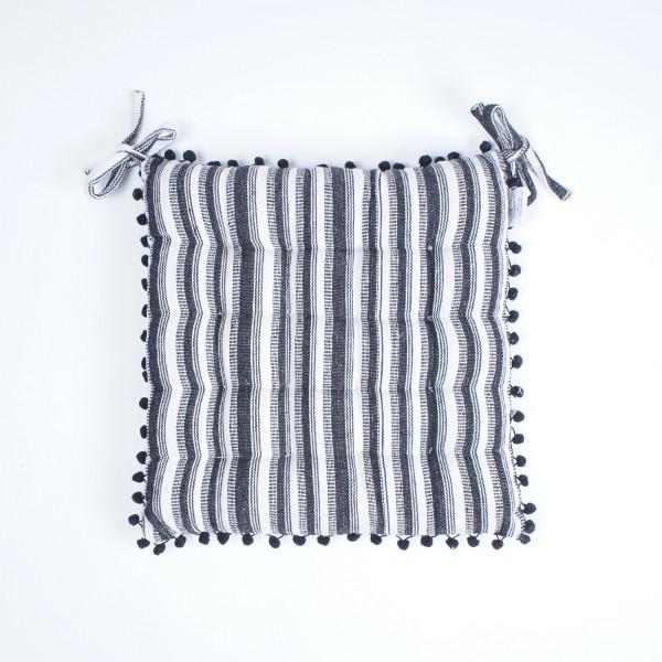 "Kissen ""Zebra"", schwarz/weiß, L 40 cm, B 40 cm"