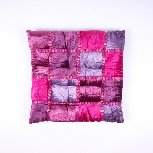 Kissen, lila/pink, L 40 cm, B 40 cm