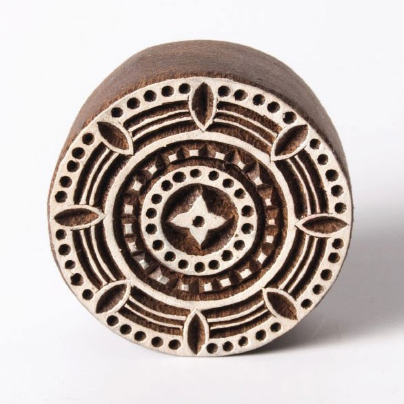 Traditioneller Holzstempel 'Modell B', handgeschnitzt