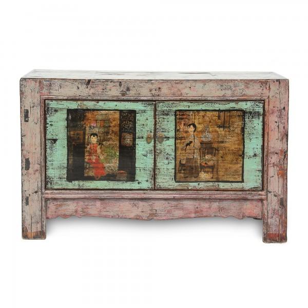 Sideboard 'Lisbeth', 2 Türen, antik, T 43 cm, B 136 cm, H 85 cm