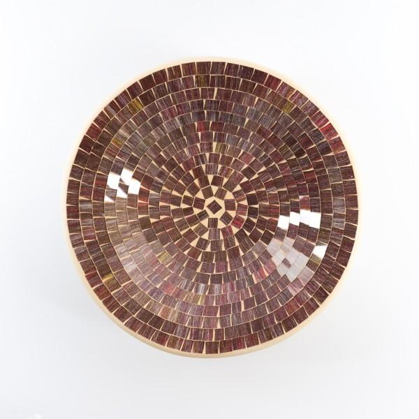 """Mosaikteller """"Herbstlaub"""", H 7 cm, Ø 29 cm"""
