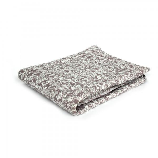Quilt 'Dibouche', braun, weiß, T 150 cm, B 225 cm