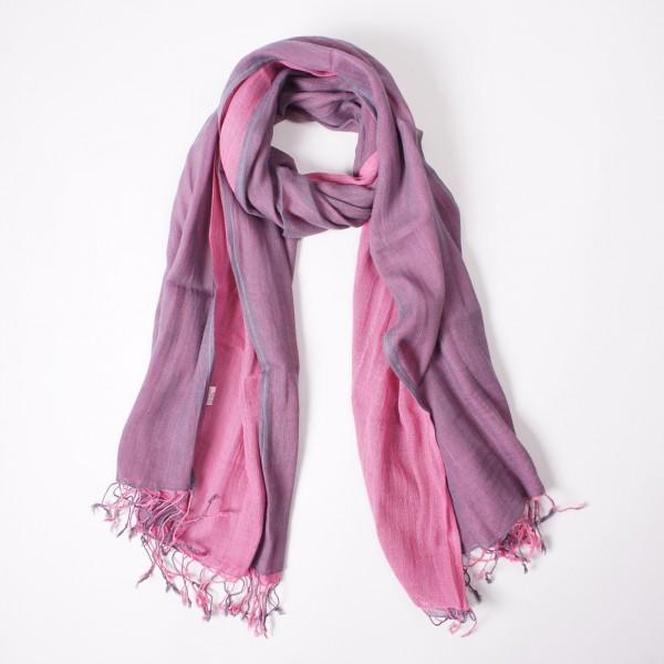 Wendeschal 'fushia', lila, pink, T 175 cm, B 50 cm