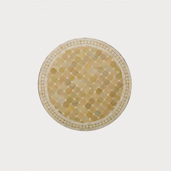 runder Tische, beige, H 75 cm, Ø 70 cm